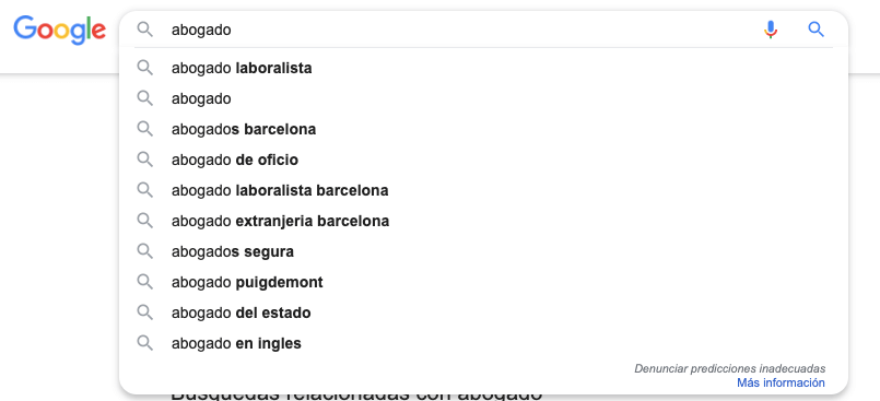 Google Suggest para SEO local pack